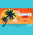 banner template for summer sale vector image vector image