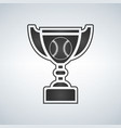 baseball trophy cup award icon in flat style vector image