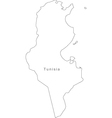 Black white tunisia outline map vector | Price: 1 Credit (USD $1)