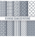 Blue line seamless patterns for universal vector image vector image