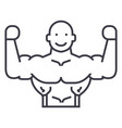 bodybuilder line icon sign vector image vector image
