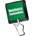 business innovation - business concepts on vector image vector image