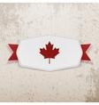 Canada Flag symbol realistic Badge vector image