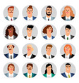 cartoon business avatars vector image vector image