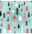 Christmas pattern with trees vector image vector image