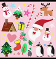 Christmas theme element for love vector image vector image
