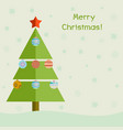 christmas tree with decoration balls christmas vector image vector image