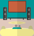 Cinema watching home cinema flat vector image vector image