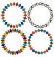 circular moroccan tile frames graphics vector image vector image