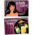 club card vector image vector image