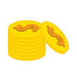 coin pile icon image vector image vector image