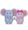 cute elephant stuffed icon vector image vector image