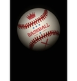 Dark Background of baseball ball vector image vector image