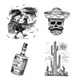 day dead mexican national holiday with the vector image vector image