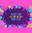 decorative tropical jungle vector image vector image