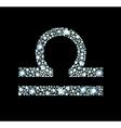 Diamond Libra Symbol vector image vector image