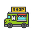 food truck filled style editable stroke icon vector image vector image