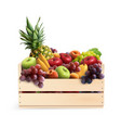 fruits in box realistic composition vector image vector image