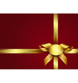 Golden ribbon bow and label vector | Price: 1 Credit (USD $1)