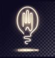 golden white neon logo design vector image vector image