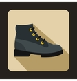 Gray boot icon in flat style vector image vector image