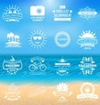 Group Summer Holidays Labels vector image