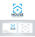 home photography logo design vector image vector image