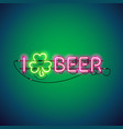 i like beer neon sign vector image vector image