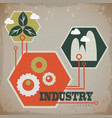 industrial ecology concept vector image vector image
