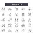 insights line icons signs set outline vector image vector image