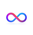 isolated logo symbol of infinity on white vector image vector image