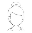 isolated women face vector image vector image