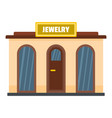 jewelry shop icon flat style vector image
