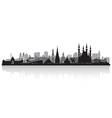 Kazan Russia city skyline silhouette vector image vector image