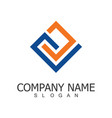 line square company logo vector image vector image