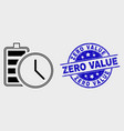 linear battery charge time icon and vector image vector image
