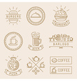linear food labels vector image vector image
