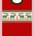merry christmas new year seamless pattern border vector image vector image