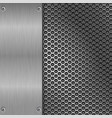 metal brushed texture with perforation vector image vector image
