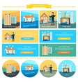Mobile Home Flat Rent Multi-family House vector image vector image