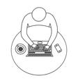 Modern workspace design vector image vector image