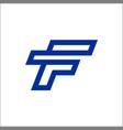 monoline f letter logo designs vector image vector image