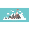 Mountains in Winter Peak with Snow Nature vector image vector image