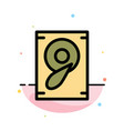 music sound speaker abstract flat color icon vector image