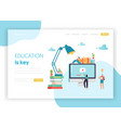 online education concept landing page template vector image vector image