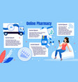 online pharmacy shopping flat infographics vector image vector image