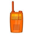 Orange portable handheld radio icon vector image vector image