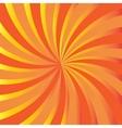 Orange rays Abstract autumn background vector image