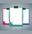 paper tablet clip pin - a4 format vector image vector image