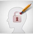pencil erases the lock vector image vector image